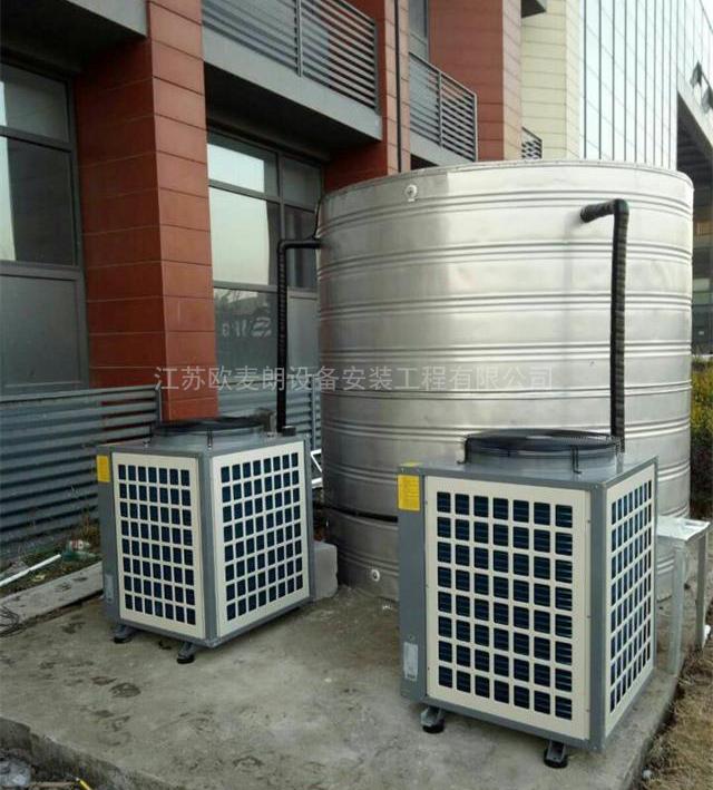 【工程】南京海底捞物流总部职工宿舍10吨空气能热水工程